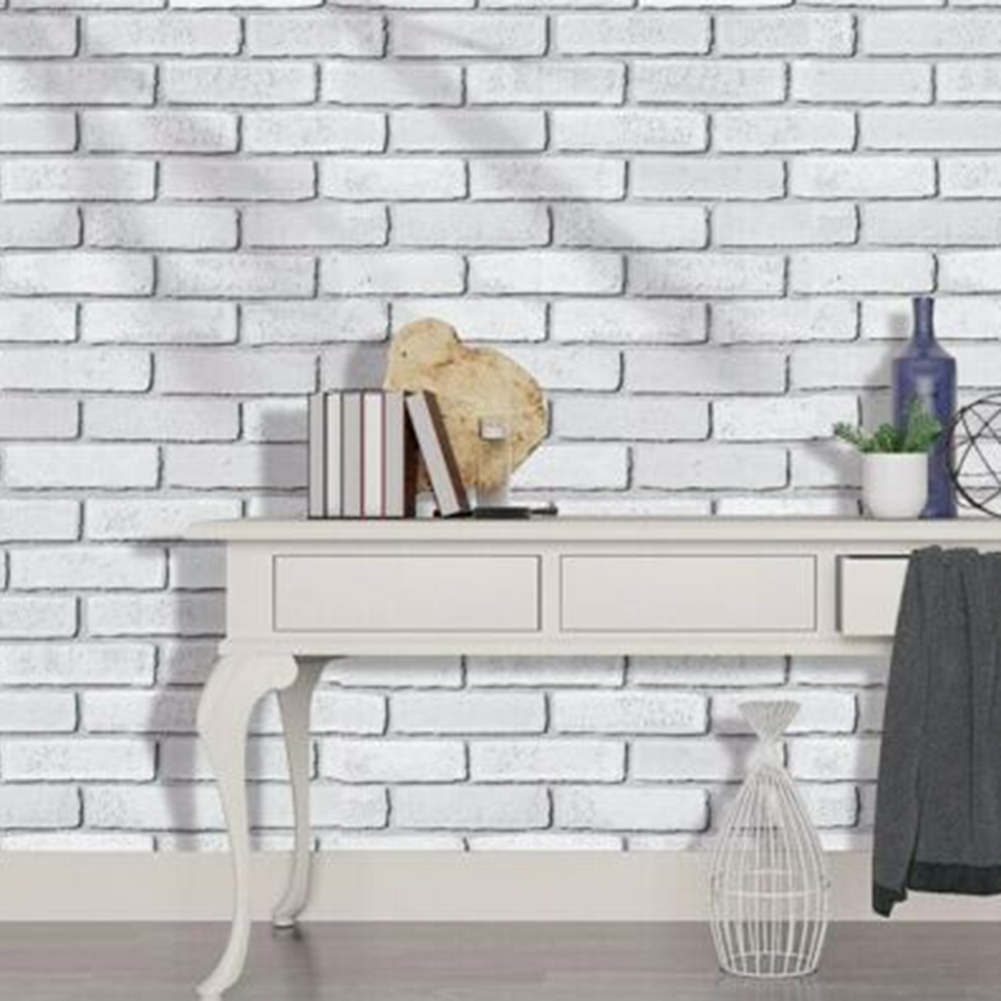 1 Roll Of Gray White Brick Peel And Wall Sticker Sticking Pvc Film Contact Paper Decor 3d Visual Effect Buy Cheap In An Online Store With Delivery Price Comparison Specifications Photos