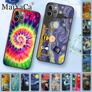 Phone Case For iPhone 5s 6s 7 8plus X xs max xr case Van Gogh Starry Night star Ballet Scenery flower Palette Scream by Munch(China)