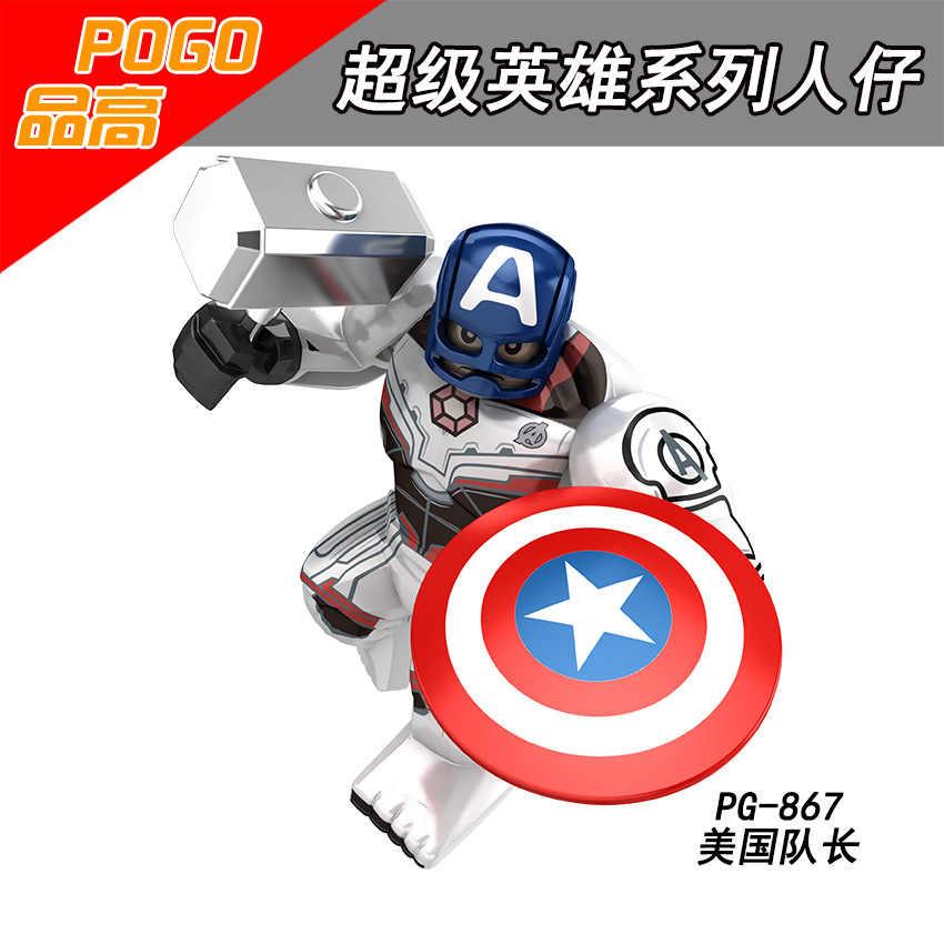 Legoing Marvel Avengers Ironman Thor Hulk Thanos Antman de Super-heróis da Marvel Super Heroes Figuras Building Blocks Brinquedos Para Crianças