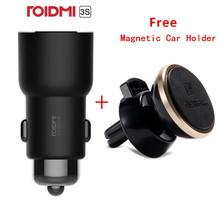 ROIDMI 3S Bluetooth 5V 3.4A Caricabatteria Da Auto del Giocatore di Musica FM Intelligente APP + Magnetico supporto da Auto per Smartphone