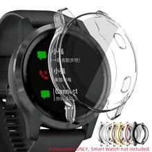 TPU yumuşak ekran cam koruyucu kılıf kabuk çerçeve Garmin Vivoactive için 4/4S Venu 2/2S 40mm 45mm tampon Vivoactive4 Venu2 kapak
