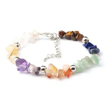 New Hot Natural Gems Stone Bracelets Colorful Rose Quartze AmethystGems Wristband Womens Gravel