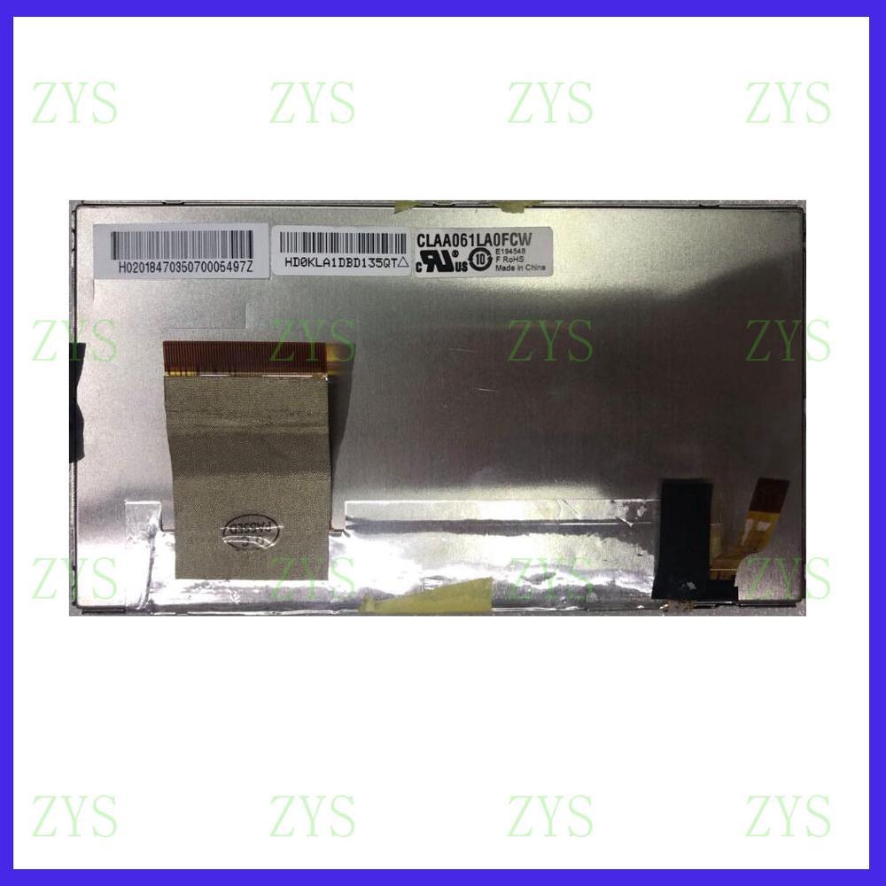 ZhiYuSun LCD CLAA061LA0ACW Original 6inch Pulgadas Pantalla  Para El Coche GPS
