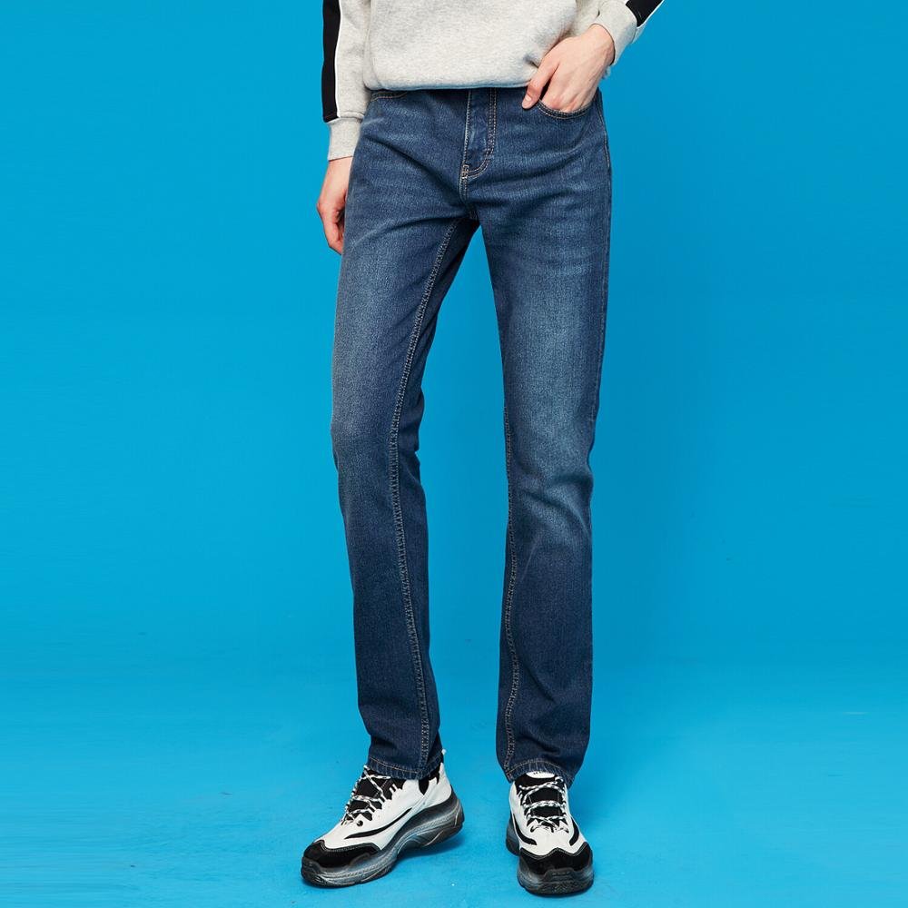 Giordano Men Jeans Fleeced-lining Stretchy Jeans Five Pocket Calca Denim Trousers Men Masculina Jeans Hombre 01119719
