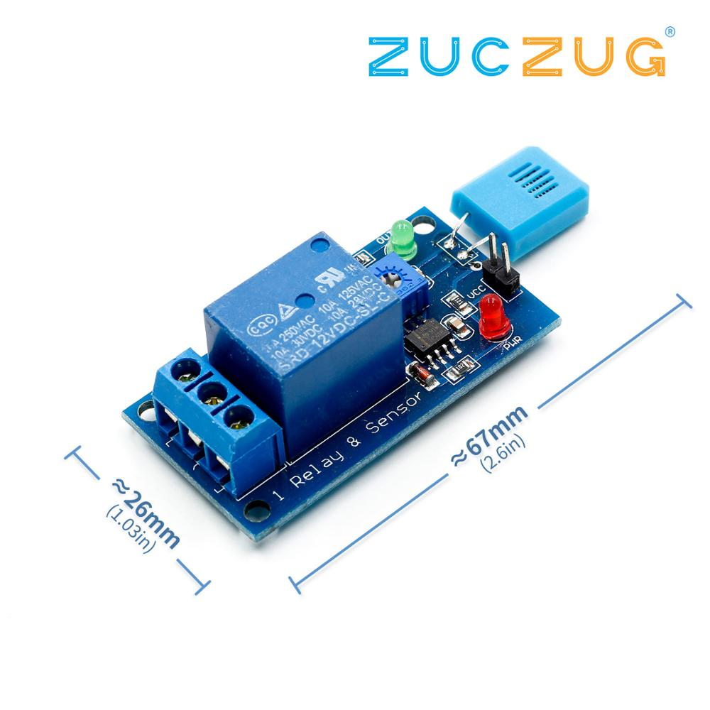 HR202 DC 5V/12V 1 Channal 1CH 5V/12V Humidity Sensitive Switch Relay Module Humidity Controller Humidity Sensor Module