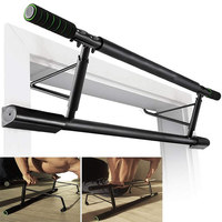 Total Upper Body Workout Bar Indoor Fitness Chin up Equipments Portable Adjustable Exercise Pull Ups Door Horizontal Bar