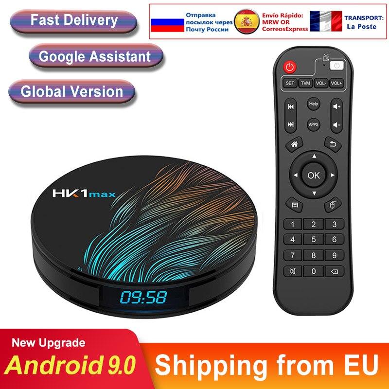 Smart tv box Android 9,0 HK1 MAX Wifi BT4.0 RK3318 Четырехъядерный 4K 1080P Full HD hk1max Android tv телеприставка медиаплеер