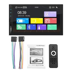 7 дюймов 2 DIN радио авто CarPlay сенсорный экран стерео FM радио Bluetooth GPS MP5 плеер для Android / IOS зеркальное соединение