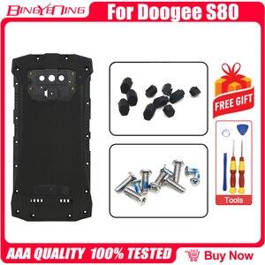 Image 3 - 100% nowy oryginalny do 5.99 calowy telefon DOOGEE S80 pokrywa baterii tylna obudowa case + tylna pokrywa zaslepka + śruby