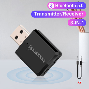 Bluetooth Dongle 5.0 3 in1 Blue Tooth Transmitter and Receiver EDR 3.5mm Bluetooth Adapter Dongle AUX for Computer PC Laptop