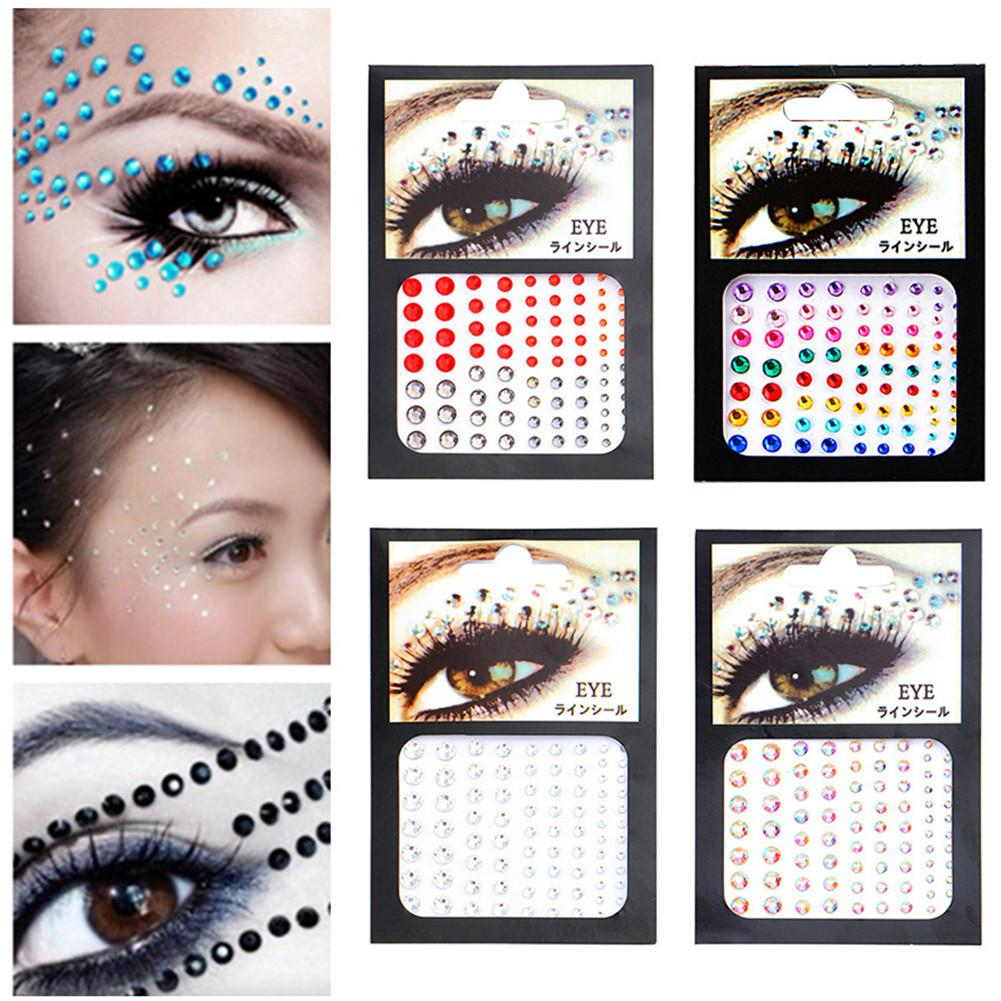 Face Gems Jewels Crystal Sticker Eye Crafted Body Temporary Tattoo Glitter Beauty Tattoo Stickers Tools