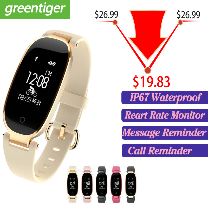 Bluetooth Waterproof S3 Smart Watch Fashion Women Ladies Heart Rate Monitor Fitness Tracker Smartwatch 2018 For Android IOS