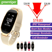 Bluetooth Waterproof S3 Smart Watch Fashion Women Ladies Heart Rate Monitor Fitness Tracker Smartwatch 2018 For Android IOS(China)