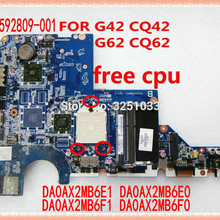 592809-001 G62-229NR G62-340US G62-435DX placa base para portátil HP placa base DA0AX2MB6E1/E0 G62 CQ62 CQ42 G42 NOTEBOOK