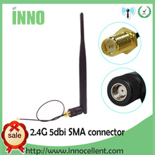 2.4GHz WiFi antenna 5dBi Aerial RP-SMA Male 2.4g antena wi fi antenne wi-fi Router +21cm PCI U.FL IPX to SMA Male Pigtail Cable