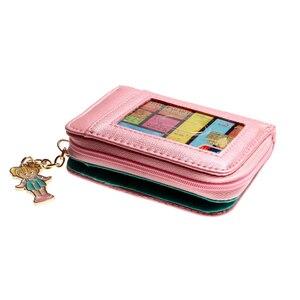 Женские стеганые кошельки Polly pocket, розовый кошелек с монетками, dft6717