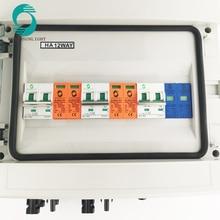 WSDB-PV IP65 550V DC солнечный PV массив строки блок объединителя с MC4 и КАБЕЛЬНОГО САЛЬНИКА для Вьетнама Рынок