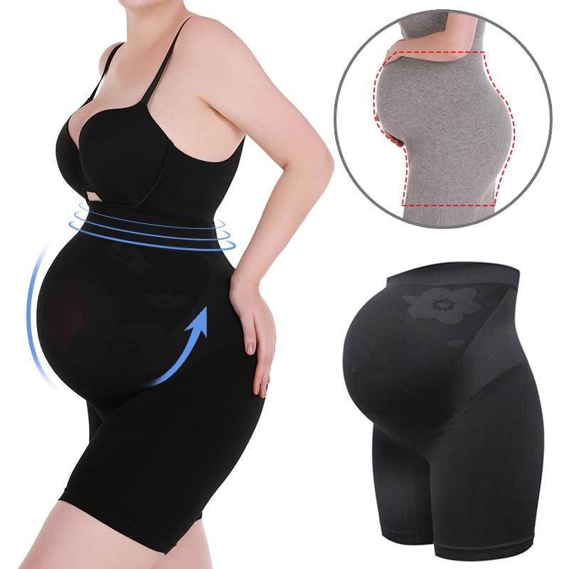 Maternity Shapewear High Waist Abdomen Support Shorts Seamless Pregnancy Underwear Tummy Control Slimming Panties Body Shaper
