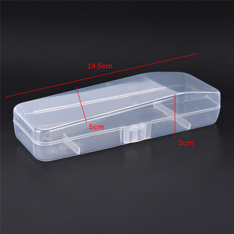 1 ud. Caja de almacenamiento de cartucho de afeitar Manual de plástico caja de alta calidad Estuche De Viaje de afeitar soporte de herramienta Universal