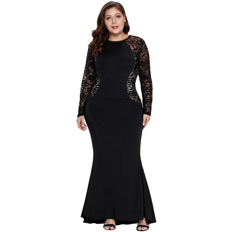 Sexy Dresses Mother Groom Black Lace  Appliques Bride Dress Mother High Low Long Sleeve Lace Burgandy Dress Vestido De Noiva