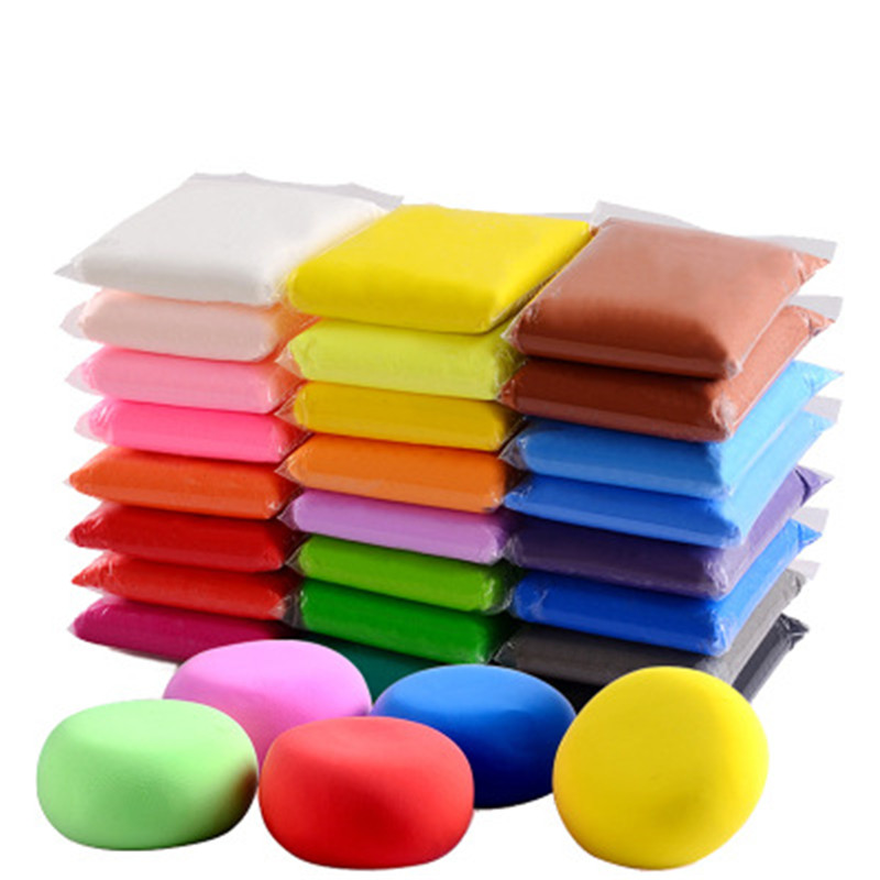 100G/set Soft Clay Light Weight Modeling Air Dry Ultralight Clay Polymer Clay Slime Supplies Slimes Fluffy Glue Toy For Children