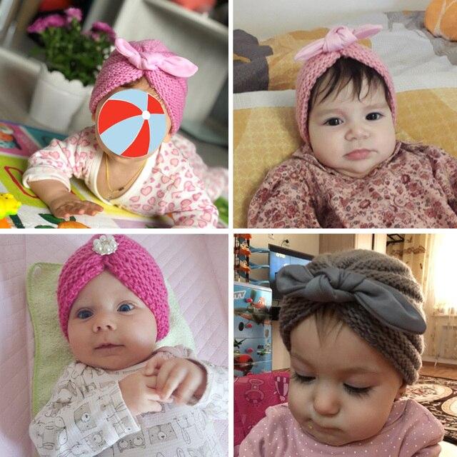 Knitted Winter Newborn Baby Cap 3