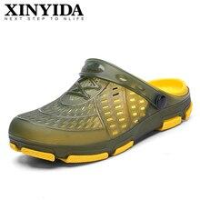 Crocks Hole Shoes Slip On Breathable Garden Casual Rubber Clogs For Men Male Sandals Summer Slides C