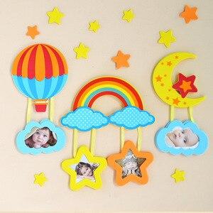 EVA мультфильм детская комната 3D пена стикер на стену фоторамка звезда дом сердце форма DIY фото сочетание персонализированные обои