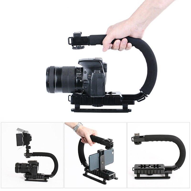 Ручной Стабилизатор для видеосъемки C-образный держатель для DSLR для Sony/Nikon/Canon легкий портативный штатив для камеры SLR для Gopro