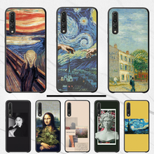 3D Relief Van Gogh Bling Lucu Shell Ponsel Case BASEUS Case untuk Huawei P30 Pro Lite P9 P8 Lite 2017 2016 P7 Soft Silicone Cover(China)