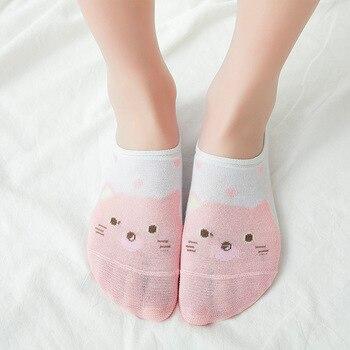 Cartoon Unicorn Cat Fox Socks Cute Animal Women Socks Summer Funny Short Ankle Socks Ladies Cotton S