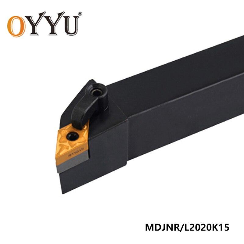 OYYU MDJNR2020 MDJNR Lathe External Turning Tool Holder 20mm MDJNR2020K15 MDJNL2020K15 Carbide Inserts DNMG150404 Boring Bar CNC