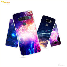 Silicon Case For LG G7 G8 G8x G8s V35 V40 V50 thinq V30 Stylo 5 Phone Cover Astronomy Universe Sky Star Space Design Skin Coque(China)