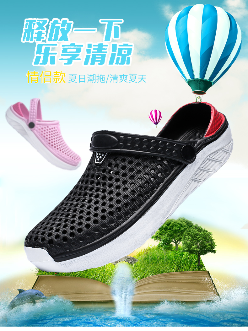 H7f6c278e1318426d9fb6129f03f7d210S - Summer Beach Sandals Lightweight Lovers Garden Shoes Non-slip Water Shoes Men White Slippers Clogs For Women Size 36-45