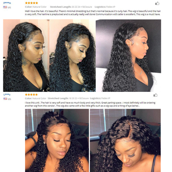Kiss Love Brazilian Hair Deep Wave Bundles with Closure Human Hair Weave 3 Bundles with Lace Closure Middle Ratio Remy Hair 5