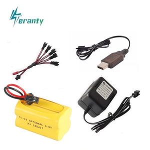 ( T Plug ) 4.8v Ni-cd Battery and charger For Rc toys Cars Tanks Robots Boats Guns 4* AA 700mah 4.8v Rechargeable Battery Pack(China)