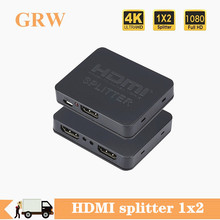 Full HD 1080p 4K HDMI Splitter Switcher HDMI Switcher HDMI Splitter converter 1 Input 2 Output Dual Display per DVD HDTV Computer