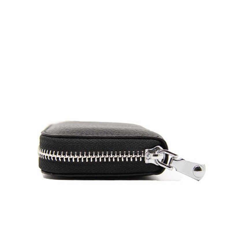 Kadın hakiki deri Mini cüzdan kısa fermuar kart cüzdan bayanlar para para çantası küçük bayan cüzdanlar ve çantalar cüzdan Vallet