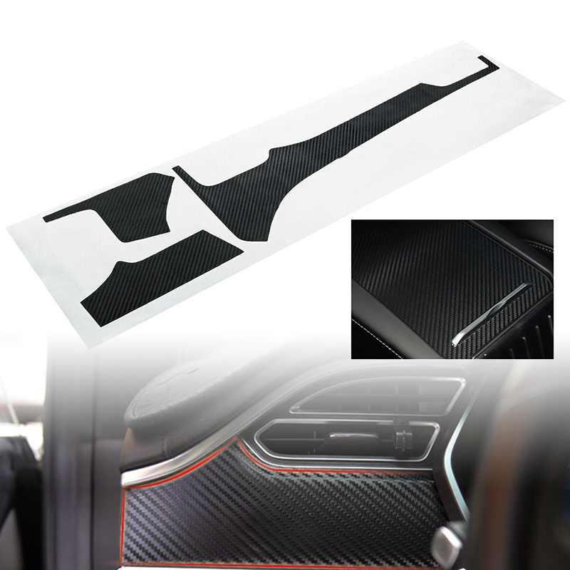 For Tesla Model X S Car Interior Sticker Carbon Fiber Parts Trim Box Accessories