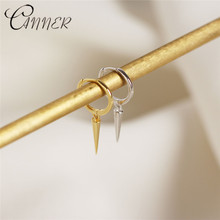 CANNER 2019 New Fashion Popular Earrings Womens Punk Style Rivet Spike Earings Korean Version 925 Sterling Silver Gift