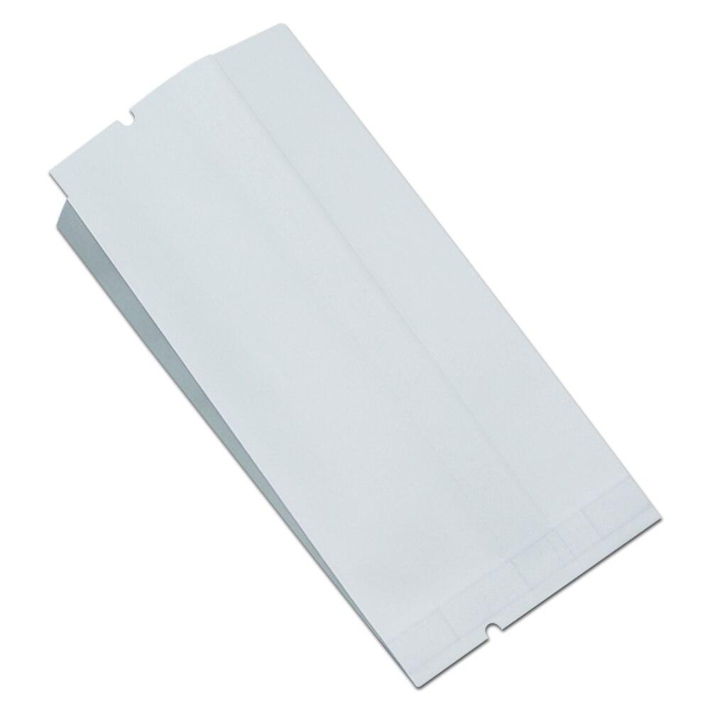 1000 шт оптовая продажа белый Майларовый фольгированный мешок крафт бумажные упаковочные пакеты открывающаяся сверху посылка мешок для хран