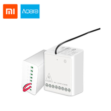 Original Xiaomi Aqara Wireless Relay Module Two-way Control Double Channels Switch Plug Controller Smart Light For Mi Home app цена и фото
