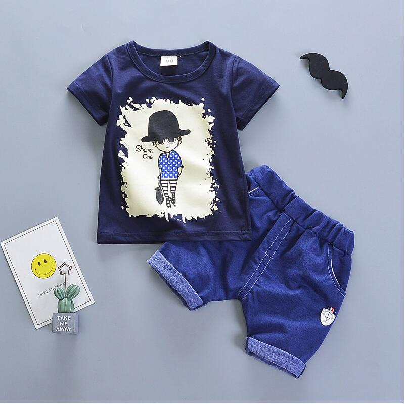 Baby Summer Clothes Boys | Summer New Baby Boy Clothes Sets Cotton Toddler Short Sleeved T Shirts+Shorts Sport Suit For Bebe Boy Infant Jogging Outfits