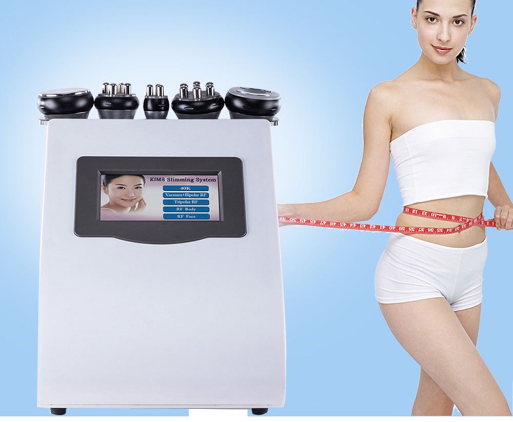 Hot 5 In 1  RF Body Slimming Ultrasonic Liposuction 40K Cavitation Machine Weight Loss Beauty Device