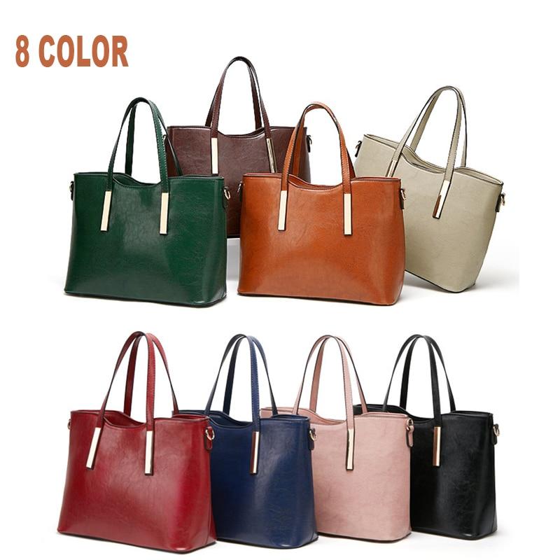 Crossbody bag 2019 new Women bag fashion messenger Bag ladies shoulder diagonal bag large capacity handbag big bag in Top Handle Bags from Luggage Bags