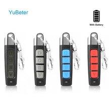 YuBeter 433MHZ Remote Control ABCD 4 Button Clone Remote Control Duplicator Garage Door Copy Controller Anti theft Lock Key