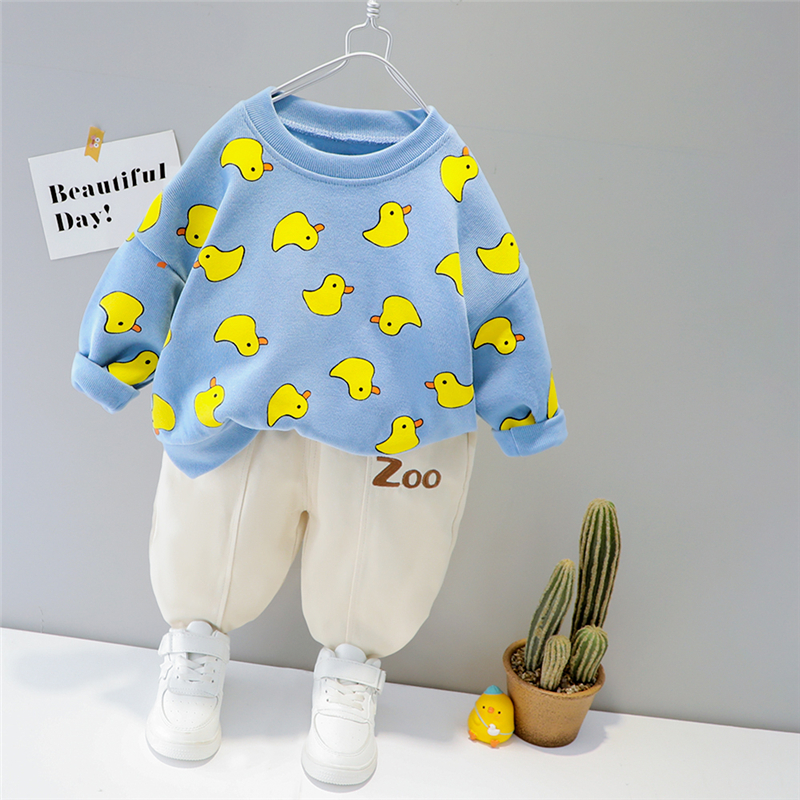 HYLKIDHUOSE Baby Girls Boys Clothing Sets 2021 Spring Toddler Infant Casual Clothes Cartoon T Shirt Pants Children Kids Clothes