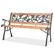 Outdoor Garden Bench Wooden Wooden Benches Patio Bench Chairs Nostalgic Design Garden Decoration Furniture Loungers 122 CM