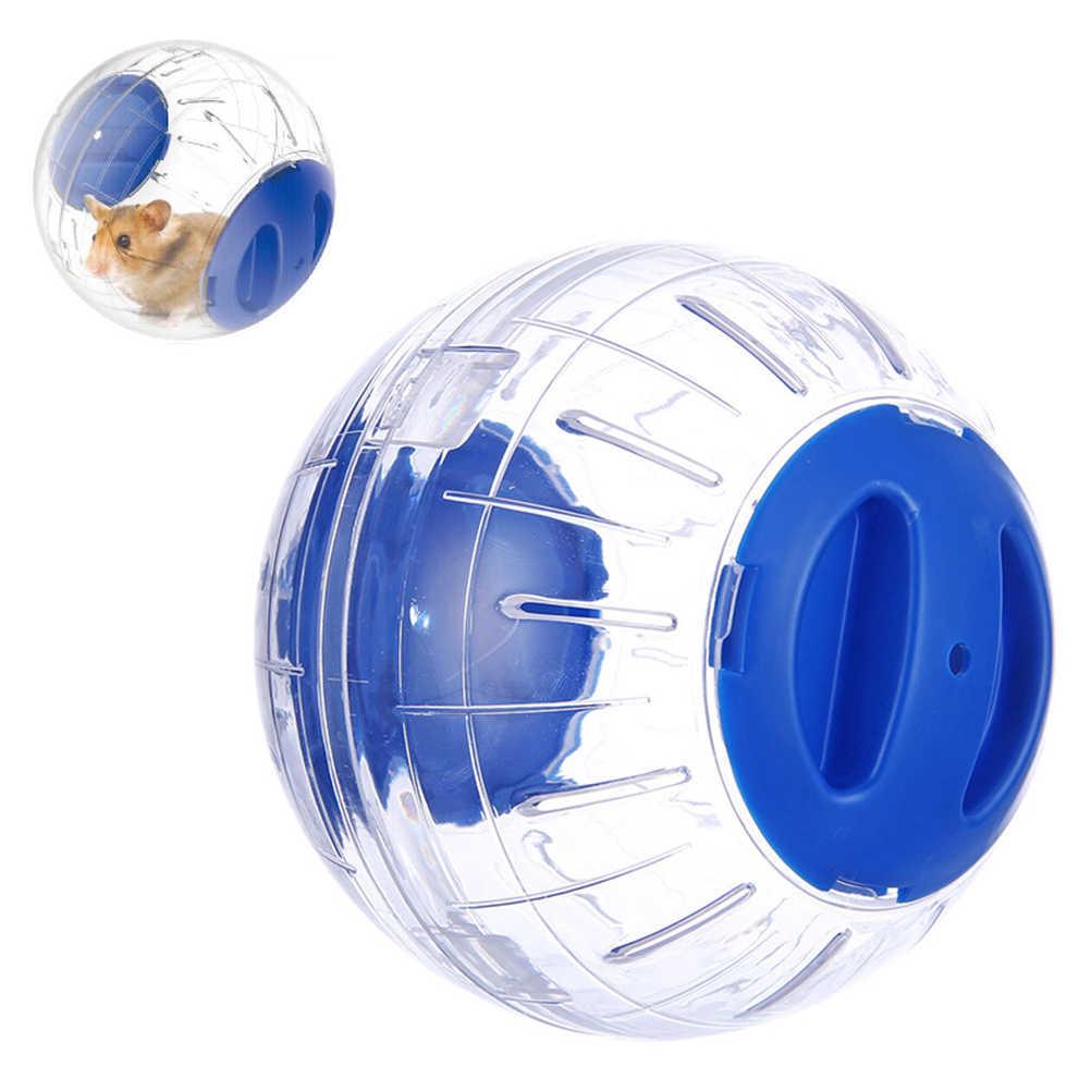 Z tworzywa sztucznego Pet okrągła kula zwierząt chomika myszy zabawki przezroczyste chomika piłka pies specjalne zabawki piłka małe zwierzęta akcesoria do klatek