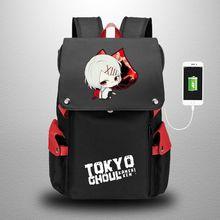 Schoolbag Backpack-Bags Kaneki Anime Studet Women Ghoul Ken Oxford Tokyo Cosplay